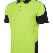 JB's Hi Vis 4602.1 Contrast Piping Polo Lime/Black S
