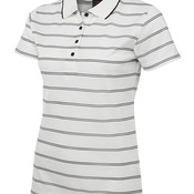 Podium Ladies Alt Stripe Polo Cream/Black 8