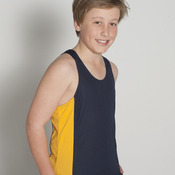 Podium Kids Contrast Singlet Black/Red 6