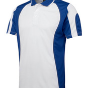 Podium Spliced Polo Light Blue/Navy 4
