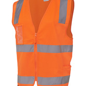 JB's Hi Vis (D+N) Zip Safety Vest Lime S