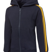 Pdm P/C Dual Stripe F/Zip Hood Black/Red 4