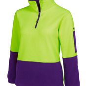 JB's HV Ladies 1/2 Zip Polar Lime/Pink 8